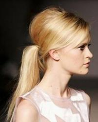Ponytail Bouffant Hairstyle with long side bangs.JPG