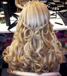 Curly wedding hairstyle with braids and crystal headband.JPG