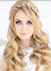 Beautiful bridal hairdo with curls and braid headband.JPG