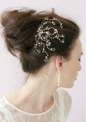 Winter wedding updo with floral hairclip.JPG