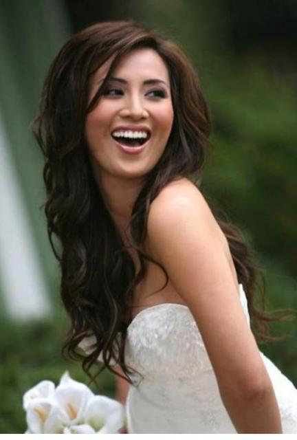 long hairstyles asian. Asian bride hairstyle with