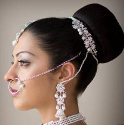 Indian wedding hairstyle modern