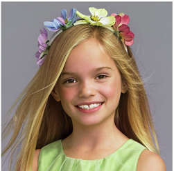 Long blonde flower girls with colorful floral head band.PNG