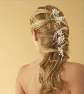 Image of wedding hairstyle with beautiful crystal hair clips.JPG