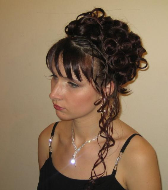 Curly Wedding Hairstyle: Tradition Curly Wedding Hairstyle With Bang.JPG (1 Comment