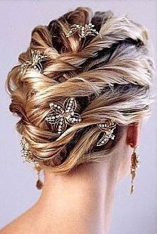 Trendy and classic wedding updo with beautiful hair clips.JPG