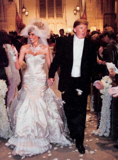 donal trump wedding photopng
