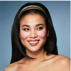 Asian long wedding hairstyle with golden head band.PNG