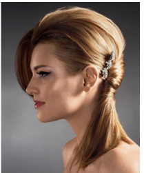Fashion wedding hairstyle with side hairclip.PNG