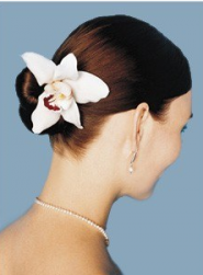 Romantic beach wedding hairstyle with fresh tropical flower hair clip.PNG