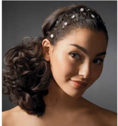 Young weddin hairstyle with side pony style with head band.PNG