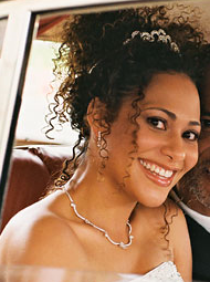 Cute Curly African American Wedding Hairstyle Png