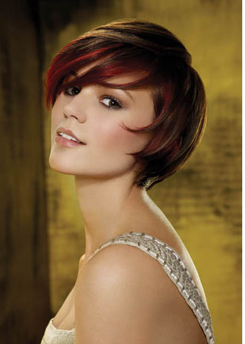 Jalevada Short Hair Red Highlights