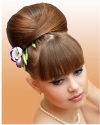 2010 Elegant Updo Hairstyles for Women With Fresh Flowers.PNG
