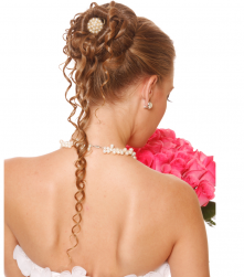 Unique bridal hairstyle with curls and pearls.PNG