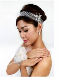 Picture of asian bride updo with headband and crystal floral hairclip.PNG