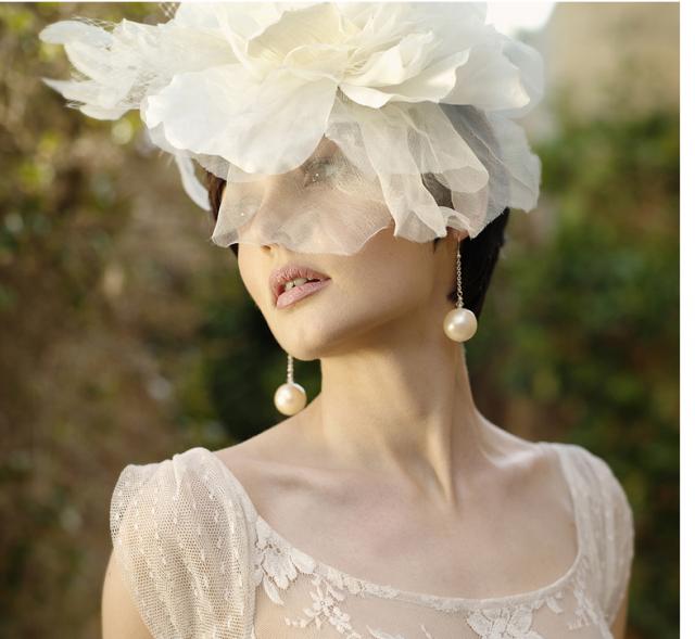 Irish bride updo with big floral hairclip.PNG Hi-Res 720p HD
