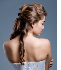 Curly wedding hairstyle in half updo pictures.PNG