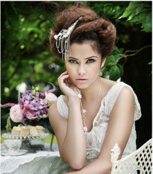 Trendy vintage bride updo with cool hairclip.PNG