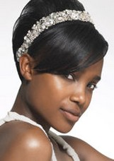 black weddin updo with skinny head band.jpg
