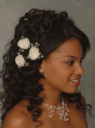 black bride wedding in curls with flowers.jpg