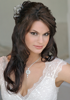 Sexy 2010 long wedding hairstyle with beautiful hairclip.PNG