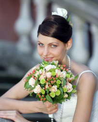 Simple classic wedding hairstyle with hair decor.PNG