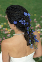 Summer bridal hairstyle with blue fresh flowers.PNG