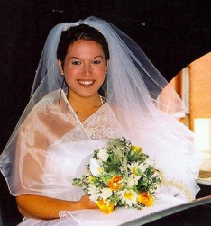 Bride with pretty classic and traditional bridal hairstyle with veil.PNG