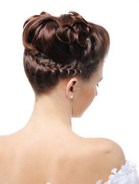 Photo of sophisticated wedding hairstyle