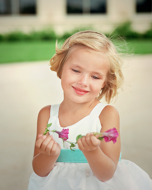 Short Hair Updo For Flower Girls Png