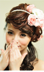 Young Asian wedding hairstyle with fresh roses headband.PNG