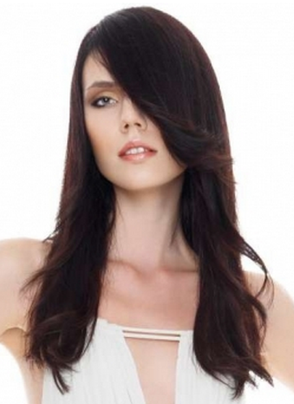 Women beautiful long hairstyle pictures with long bang.PNG