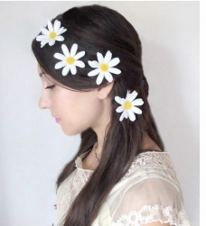 White floral wedding hairstyle with daisy flowers.PNG