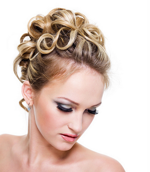 Pic of Wedding hairstyle w/ ringlets