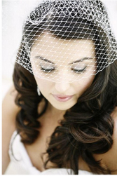 Down bridal hairstyle with wedding net hair dress.PNG