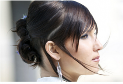 Simple updo for bridal hair with side bangs.PNG