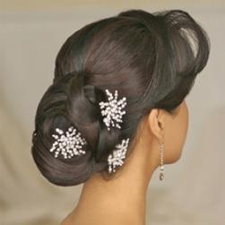 wedding hairstye with three crystal hair clips.jpg