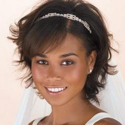 short black wedding hairstyle with tiara.jpg