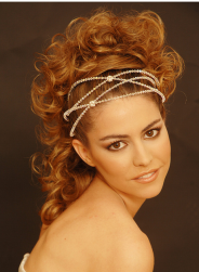 Big wedding hairstyle with curls and modern hair bands.PNG