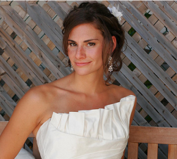 Simple modern wedding hairdo photos with long side bangs.PNG
