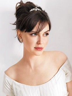 wedding hairstyle updo with Small Vintage Tiara.jpg