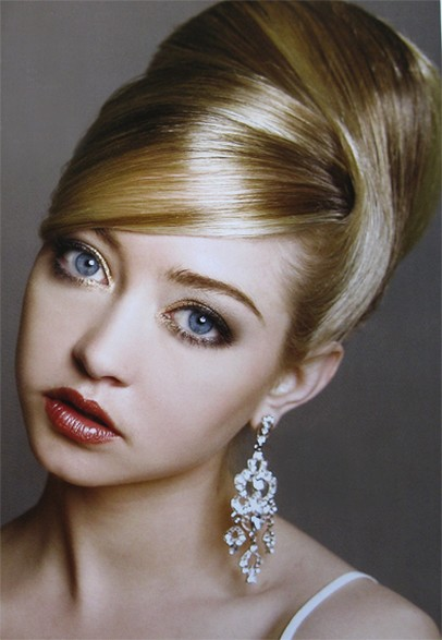 Image of sophisticated bridal Hairstyle