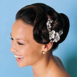 bride updo hairstyle with flower clips.jpg