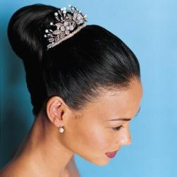 bridal updo with Pearl and Crystal Filigree Tiara.jpg